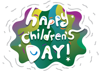 Free Childrens Day Vector Banner - бесплатный vector #409345