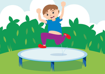 Jump with Trampoline - vector #409355 gratis