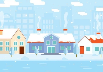 Free Vector Winter Building - vector gratuit #409505