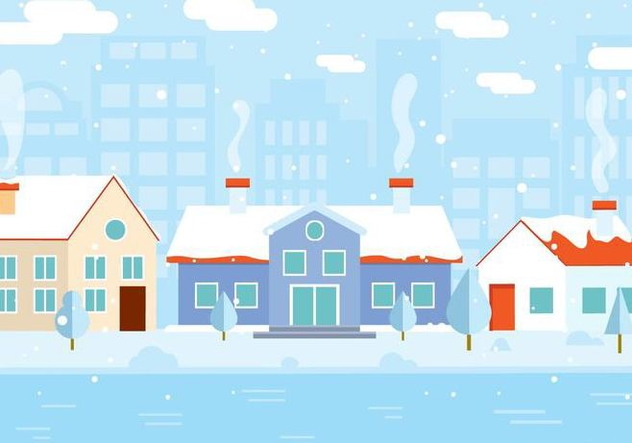 Free Vector Winter Building - Free vector #409505