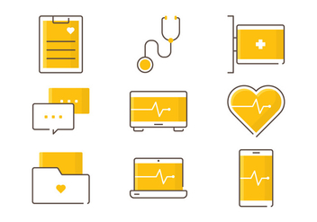 Healthcare Service Icons - vector #409525 gratis