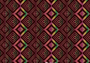 Colorful Ethnic Huichol Ornament Pattern - vector #409555 gratis