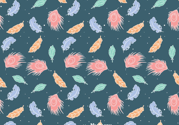Colorful Feather Gipsy Style Seamless Pattern - Free vector #409565