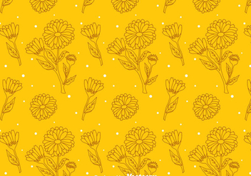 Calendula Orange Pattern - Free vector #409605
