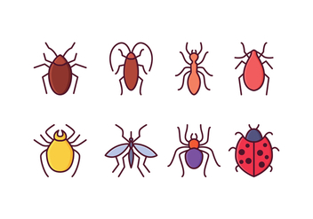 Free Insect Icons - vector gratuit #409845