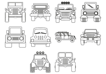 Free Jeep Icon Vector - vector gratuit #409855