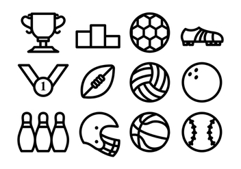 Sport Icon Flat Line Vector - Free vector #409915