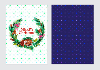Free Vector Watercolor Christmas Card - бесплатный vector #409985