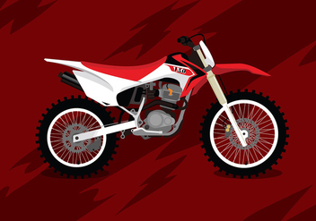 Dirt Bike Free Vector - vector #410005 gratis