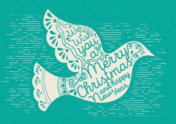 Free Christmas Vector Dove - Kostenloses vector #410025