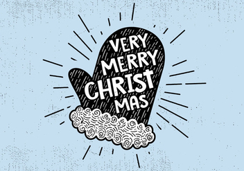 Free Vintage Hand Drawn Christmas Card Background - vector gratuit #410035