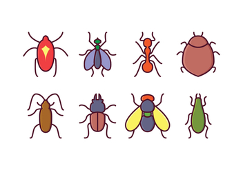Free Insect Icons - vector gratuit #410135