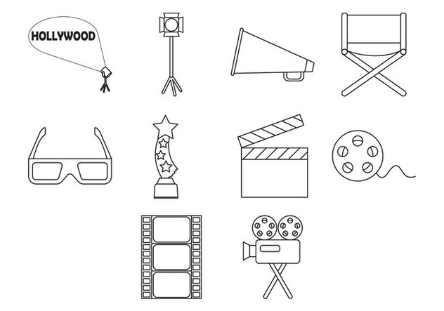 Free Movie Icon Vector - Free vector #410175
