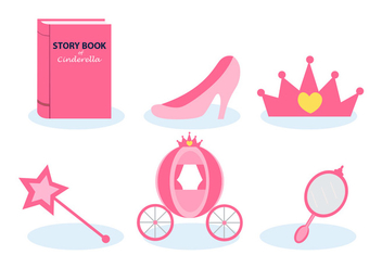 Cinderella Storytelling Vector Set - бесплатный vector #410185