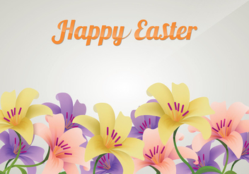 Beautiful Background With Easter Lily Flowers - vector gratuit #410235