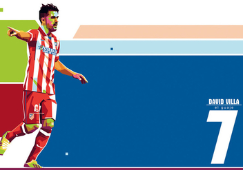 David Villa - WPAP - vector #410245 gratis