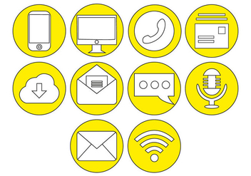Free Communication Icon Vector - Kostenloses vector #410305