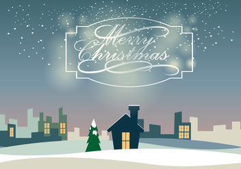 Christmass Landscape Vector - Free vector #410435