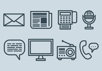 Free Comunication Icons Vector - бесплатный vector #410445