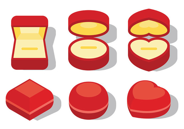 Free Ring Box Icons Vector - Kostenloses vector #410535