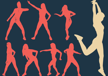 Zumba Woman Dancers Silhouette - Free vector #410545