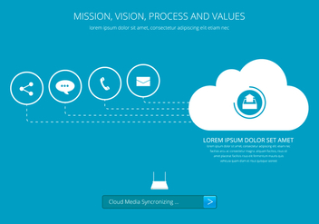 Cloud Communication Media Sharing - Kostenloses vector #410635