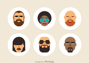 Free Cool Male Vector Avatars - бесплатный vector #410645