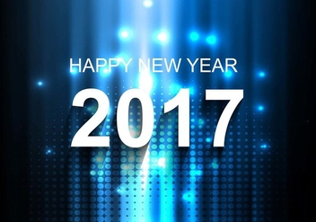 Free Vector Bright New Year 2017 Background - vector #410685 gratis