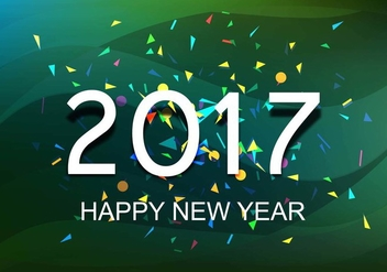Free Vector New Year 2017 Background - Free vector #410705