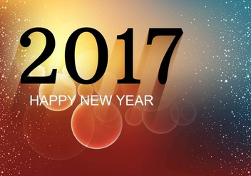 Free Vector New Year 2017 Background - бесплатный vector #410715