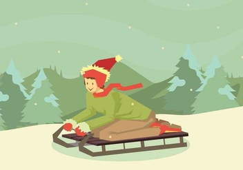 Free Toboggan Illustration - Free vector #410735