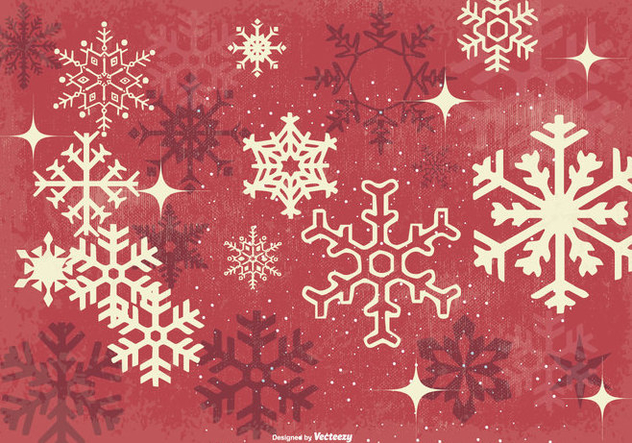 Grunge Snowflake Vector Background - Free vector #410745