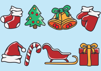 Christmas Icons - Free vector #410765