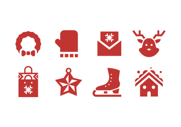 Christmas icons - Kostenloses vector #410775
