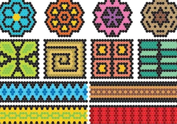 Huichol Art Icons - бесплатный vector #410815
