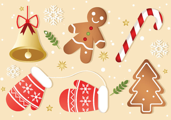 Free Christmas Elements Vector - Free vector #410825