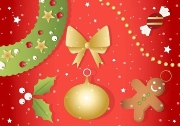 Free Christmas Vector Ornaments - Kostenloses vector #410835