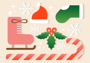 Free Christmas Vector Elements - Kostenloses vector #410855
