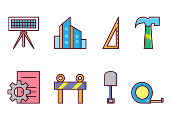 Free Architect and Construction Icons - vector gratuit #410925
