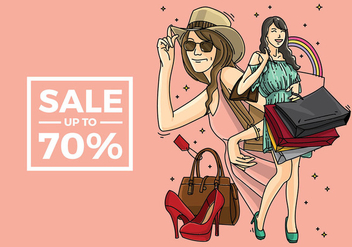 Mujer Shopping Free Vector - Free vector #410955