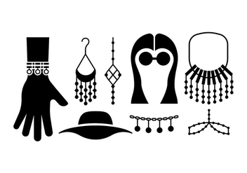 Bohemian / gypsy accessories - vector #411095 gratis