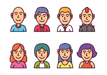 Free Avatar Icon Set - Free vector #411175
