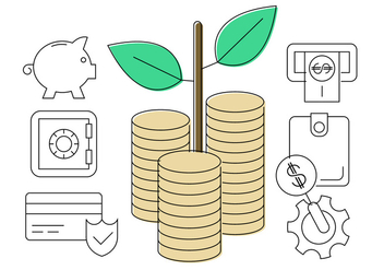 Money Grows on Trees Vector Icons - vector #411555 gratis