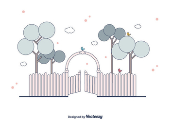 Open Gate Vector - vector gratuit #411595