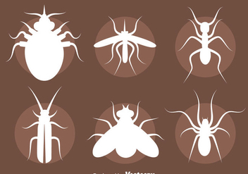 Insect Silhouette Vector Set - Free vector #411605
