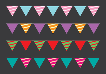 Cute Party Flag Vectors - Free vector #411615