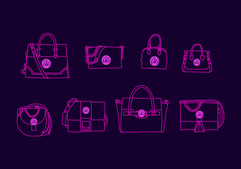 Free Versace Bag Vector Illustration - vector gratuit #411635