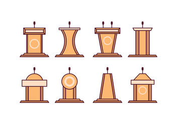 Free Lectern Vector Pack - Kostenloses vector #411665