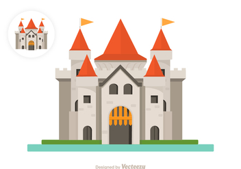 Free Flat Castle Vector Icon - Kostenloses vector #411675