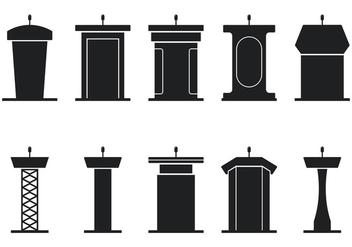Lectern Icons - Kostenloses vector #411765